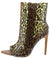 Inna5 Brown Leopard Pointed Peep Toe Stiletto Boot