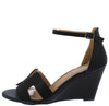 Laury04 Black Women's Wedge - Wholesale Fashion Shoes