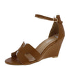 Laury04 Tan Women's Wedge - Wholesale Fashion Shoes