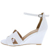 Laury04 White Women's Wedge - Wholesale Fashion Shoes