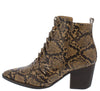 Leader5 Brown Snake Women's Boot - Wholesale Fashion Shoes