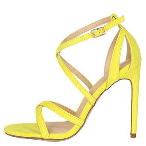 5e93ee576d Bliss Mustard Suede Knotted Tri Strap Open Toe Block Heel $10.88 · Dylan200  Yellow Woman's Heel - Wholesale Fashion Shoes