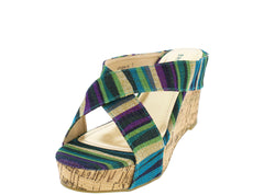 LEVANA05 BLUE WOMEN'S WEDGE - Wholesale Fashion Shoes - 2