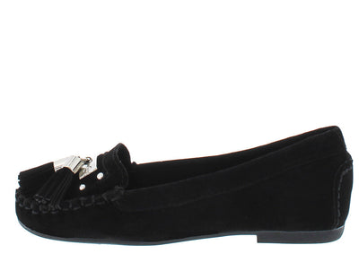 Liberty02k Black Kids Tassel Loafer Flat - Wholesale Fashion Shoes