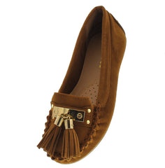 LIBERTY02K CHESTNUT KIDS TASSEL LOAFER FLAT - Wholesale Fashion Shoes