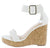Lillian11 White Pu Women's Wedge
