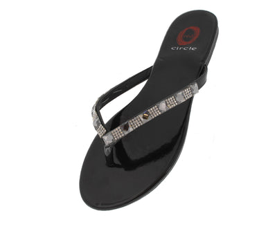 Lina Black Studded Sandal - Wholesale Fashion Shoes