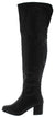 Linden02ok Black Back Cut Over The Knee Boot
