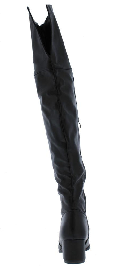 Linden02ok Black Back Cut Over The Knee Boot - Wholesale Fashion Shoes
