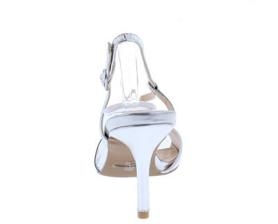 Lita59x Silver Metallic Clear Peep Toe Wrap Strap Slingback Heel - Wholesale Fashion Shoes