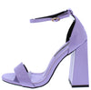Jessica136 Violet Open Toe Ankle Strap Tapered Block Heel - Wholesale Fashion Shoes