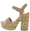 Lizzo Nude Pu Women's Heel - Wholesale Fashion Shoes