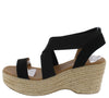 Logan08 Black Women's Wedge - Wholesale Fashion Shoes
