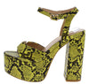 London2 Yellow Snake Women's Heel - Wholesale Fashion Shoes