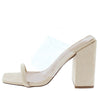 Loria02 Nude Suede Women's Heel - Wholesale Fashion Shoes