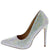 Love Silver Rhinestone Studded Pointed Toe Stiletto Heel