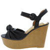 Lovebird14a Black Women's Wedge - Wholesale Fashion Shoes