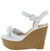 Lovebird14a White Women's Wedge