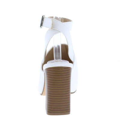 Lowela White Women's Heel - Wholesale Fashion Shoes
