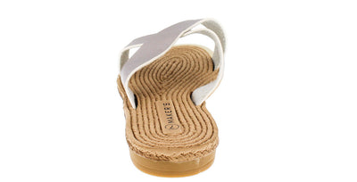 Luann4 Silver Cross Strap Espadrille Sandal - Wholesale Fashion Shoes