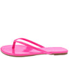 Alicia298 Fuchsia Slide On Flat Thong Sandal - Wholesale Fashion Shoes