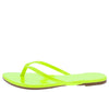Alicia298 Yellow Slide On Flat Thong Sandal - Wholesale Fashion Shoes