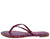 Jessica233 Pink Multi Snake Slide On Thong Flat