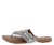 Madison093 Silver Star Studded Multi Stone Thong Sandal