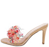Jannette132 Nude Multi Jeweled Open Toe Slide Heel - Wholesale Fashion Shoes