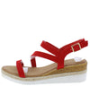 Lucy03 Red Women's Sandal - Wholesale Fashion Shoes