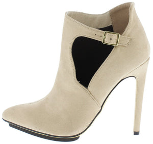 e6505f219fbf06 Isabelle091 Nude Side Buckle Cut Out Pointed Toe Stiletto Heel - Wholesale  Fashion Shoes