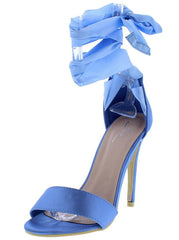 M0149 BLUE WOMEN'S HEEL - Wholesale Fashion Shoes