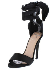 M0149 BLACK WOMEN'S HEEL - Wholesale Fashion Shoes