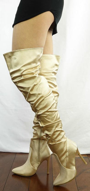 10a33b7751a M333 Nude Thigh High Satin Stiletto Boot - Wholesale Fashion Shoes