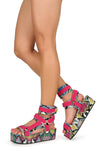 Mia Snake Multi Women's Wedge - Wholesale Fashion Shoes