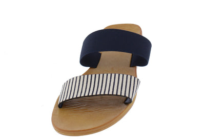 Moondance92 Navy Stripe Women's Sandal - Wholesale Fashion Shoes