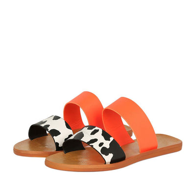 Moondance77 Cow Print Women's Sandal - Wholesale Fashion Shoes