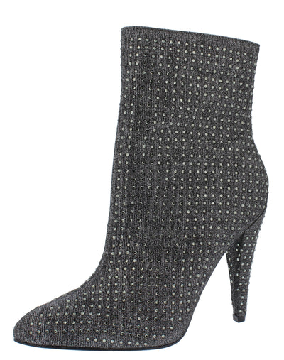 Magnolia09s Pewter Embellished Pointed Toe Boot - Wholesale Fashion Shoes