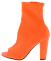 Mania45 Neon Orange Women's Boot - Wholesale Fashion Shoes