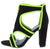 Mania52 Black Neon Yellow Front Zip Cut Out Tapered Heel