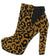 Mascara03x Camel Black Leopard Suede Women's Boot