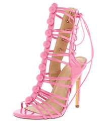 MYA111 PINK WOMEN'S HEEL - Wholesale Fashion Shoes