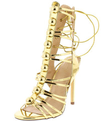 MYA111 GOLD WOMEN'S HEEL - Wholesale Fashion Shoes