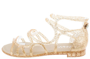045feba095c Melly5 Rose Gold Glitter Caged Jelly Sandal - Wholesale Fashion Shoes