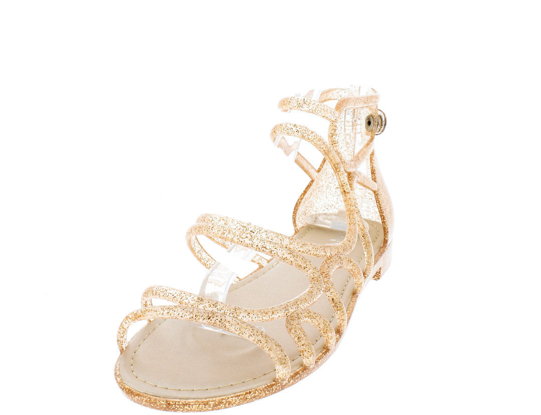 70feab8fe7c0 Melly5 Rose Gold Glitter Caged Jelly Sandals Only  10.88 - Wholesale ...