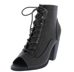 ADDISON192 CHARCOAL WOMEN'S BOOT - Wholesale Fashion Shoes