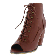ADDISON192 COGNAC WOMEN'S BOOT - Wholesale Fashion Shoes