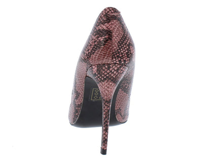 Miley01 Pink Snake Pointed Toe Stiletto Heel - Wholesale Fashion Shoes
