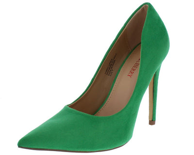 Milly2 Green Pointed Toe Stiletto Heel - Wholesale Fashion Shoes