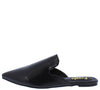 Millys1 Black Pointed Toe Mule Slide Loafer Flat - Wholesale Fashion Shoes